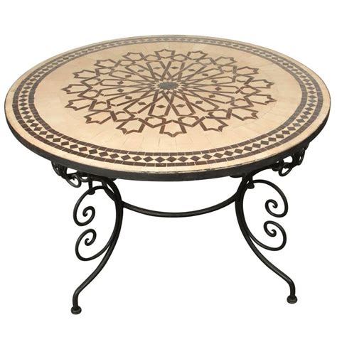 moroccan tile outdoor table moroccan marble and mosaic table indoor or outdoor