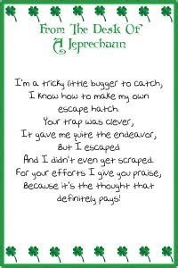 free printable letters from leprechaun what to do when you don t catch a leprechaun leprechaun
