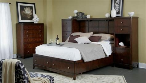 king wall bed edenfield king wall storage bed by folio 21 bedroom