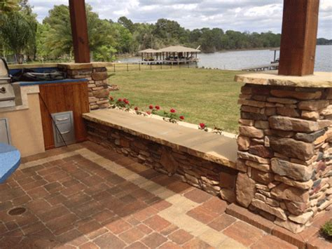 what are seating walls for outdoor kitchens patio design