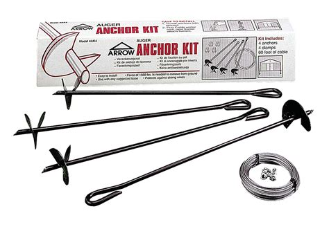 Arrow Shed Replacement Parts by Arrow Buildings Ground Anchor Kit Lawn Garden Sheds