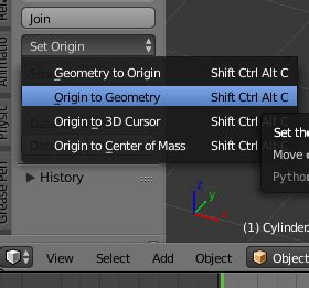 reset origin tool objects how can i exit joining mode blender stack