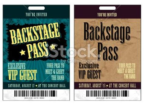 backstage pass template pin by loop on rock birthday
