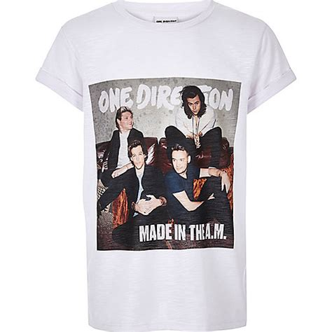 T Shirt One white one direction print t shirt tops sale