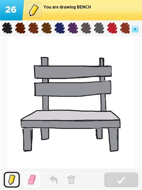 bench drawing bench drawings how to draw bench in draw something the