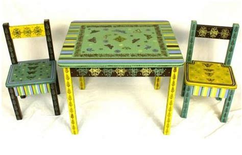 childrens painted table and chairs whimsical handpainted childrens furniture artistryinfaux
