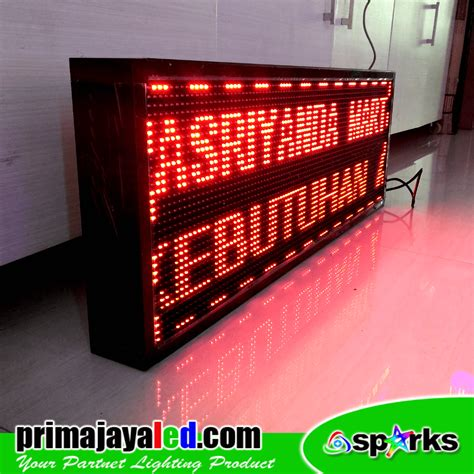 Display Led Running Teks 165 37 Merah running teks led outdoor prima jaya led