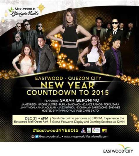 new year celebration eastwood eastwood new year countdown to 2015 philippine concerts