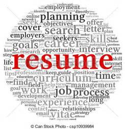 stock illustration of resume concept words resume concept in word tag cloud on csp10939984