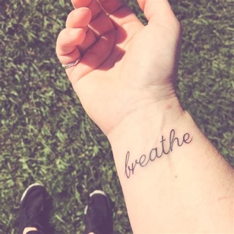 good words for tattoos on wrist 54 just breathe tattoos design on wrist