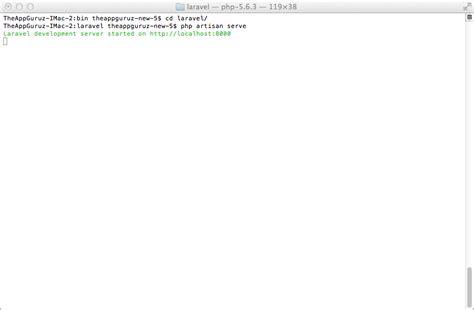 tutorial laravel mac how to setup laravel 4 on mac