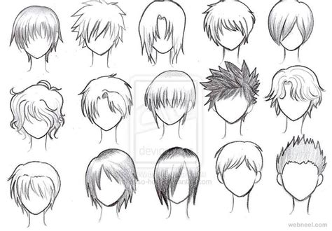 anime hairstyles guys tutorial draw anime male hair 20 full image