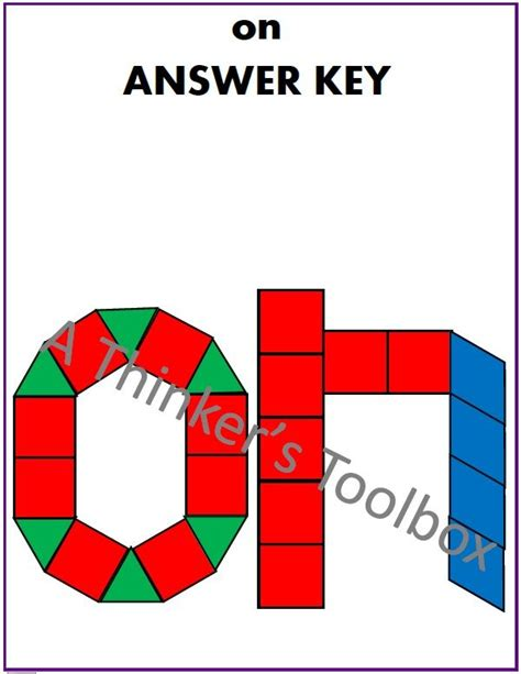 Pattern Block Words   pattern blocks sight word puzzles by a thinker s toolbox