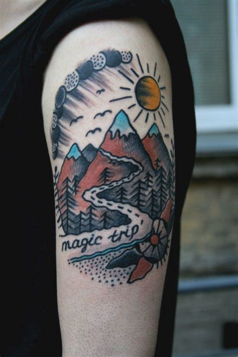 mountain scene tattoo designs 101 perfectly nature tattoos designs and ideas