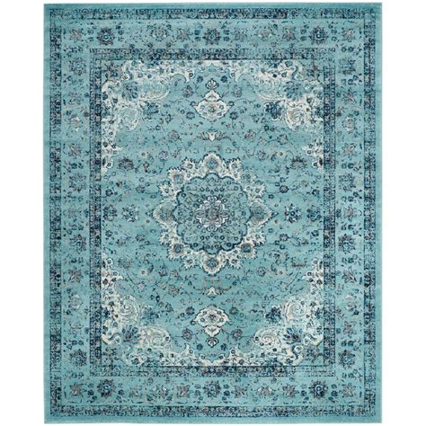 10 X 20 Area Rug Safavieh Evoke Light Blue 10 Ft X 14 Ft Area Rug Evk220e 10 The Home Depot