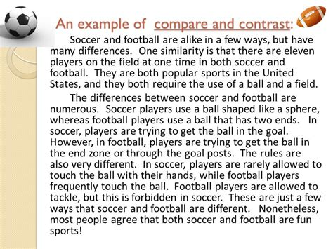 Time Football Essay by Nonfiction Text Structures Ppt