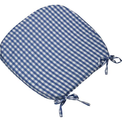 tie on seat pad gingham check tie on seat pad 16 quot x 16 quot kitchen outdoor