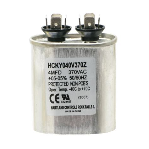 run capacitor what is it 4mfd 5 at 370 vac motor run capacitor