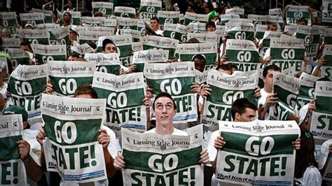 michigan basketball student section pilgrimage east lansing already has gone green
