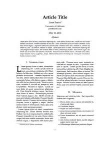 latex templates 187 journal article