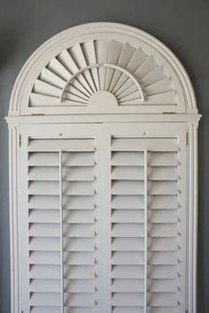 Circle Top Window Blinds - half circle shutters over a window