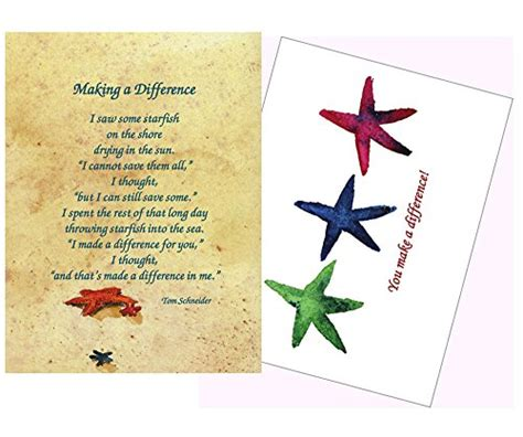 make a prayer card starfish story a difference inspirational cards