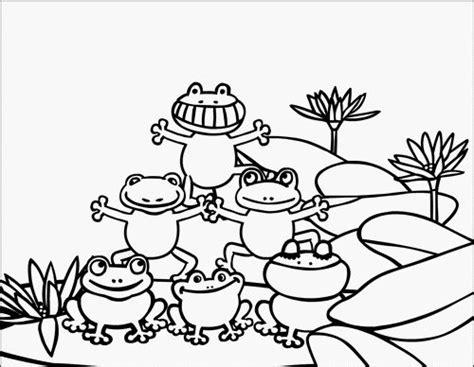 speckled frog coloring page かえるの組み立て体操 ほほえみがえし