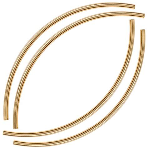 noodle curved gold plated curved noodle 3mmx100mm 4 ebay