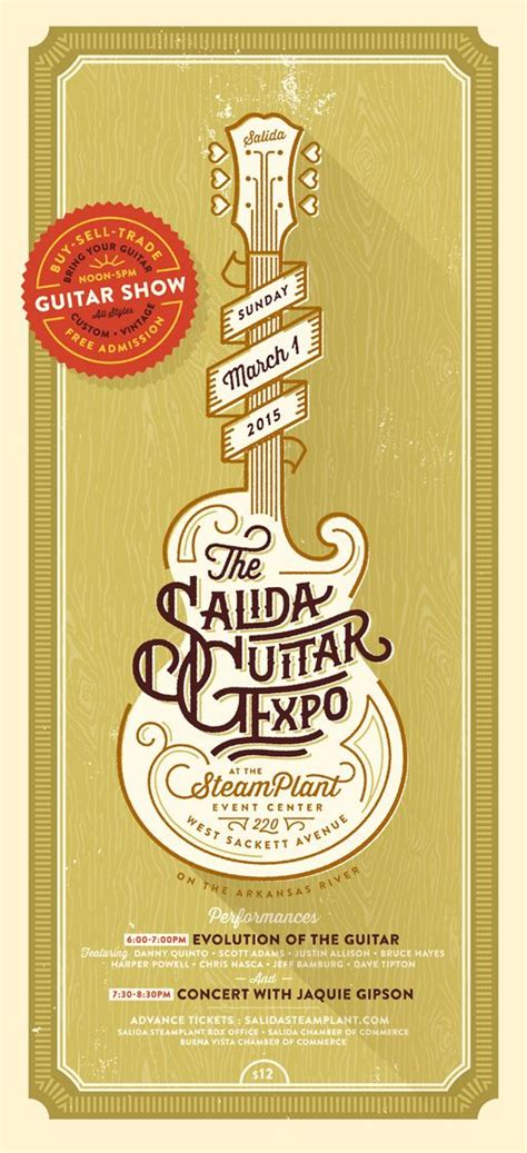 poster design keywords guitar expo 2015 and graphic design typography on pinterest
