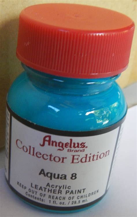 angelus paint aqua 8 quot angelus collector edition acrylic paint for shoes