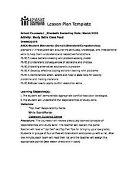 asca lesson plan template 1000 images about counseling on school