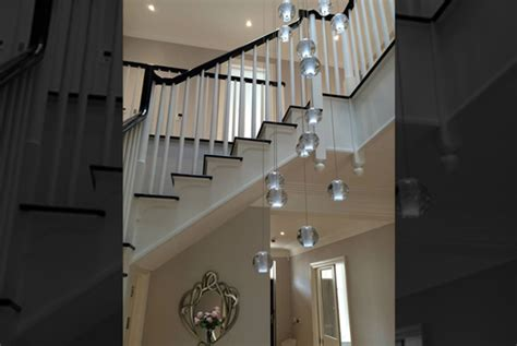 Stairwell Chandelier Stairwell Chandeliers Modern Glass Chandeliers And
