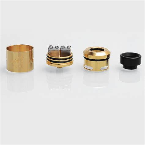 Authentic Rda 24 Goon 1 5 V1 5 By Customvapes 528 Bukan Druga Skill authentic 528 custom goon v1 5 rda gold ss 24mm rebuildable atomizer