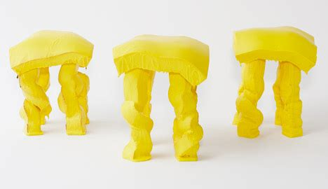 fondue stool is modeled on a molten cheese dish