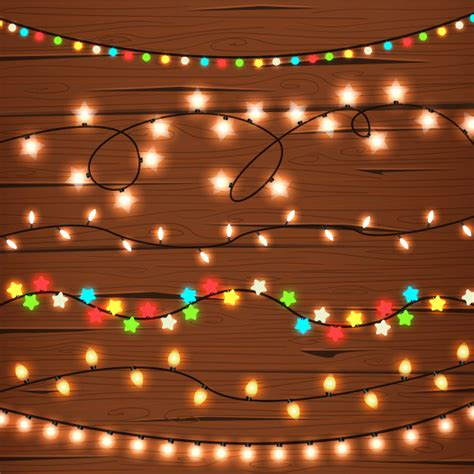 string lights on wooden wall vector free
