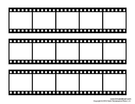 filmstrip template tim de vall comics printables for