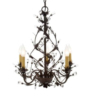 Tuscan Chandeliers Hton Bay 5 Light Tuscan Copper Chandelier Hb3431 240 The Home Depot