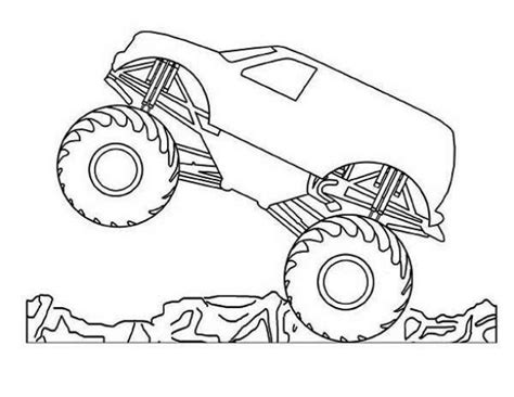 hot wheels monster truck coloring pages