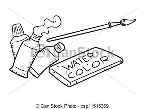 doodle drawing tools clip vector of painting tools doodle csp11515369