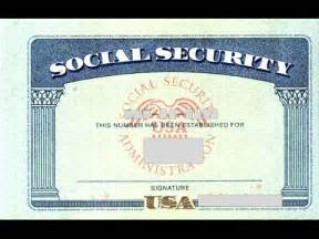 Social Security Number Template by Social Security Card Number