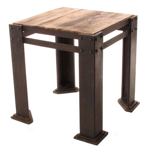 teak wood side table rigger s reclaimed teak wood chunky leg side table kathy