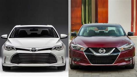nissan and toyota 2016 toyota avalon vs 2016 nissan maxima