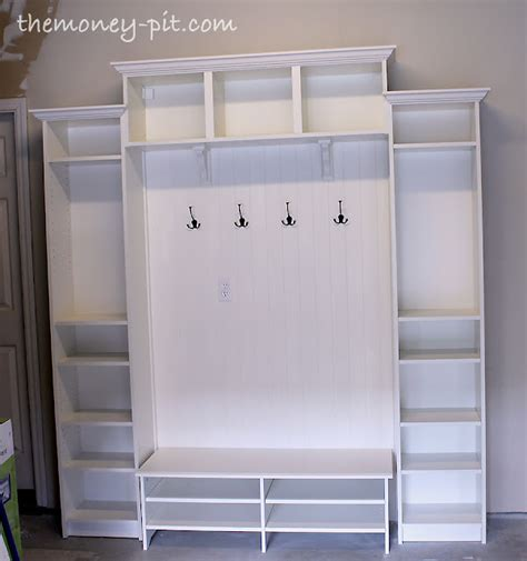 mudroom design ikea mudroom built ins from ikea bookcases for 300 hometalk
