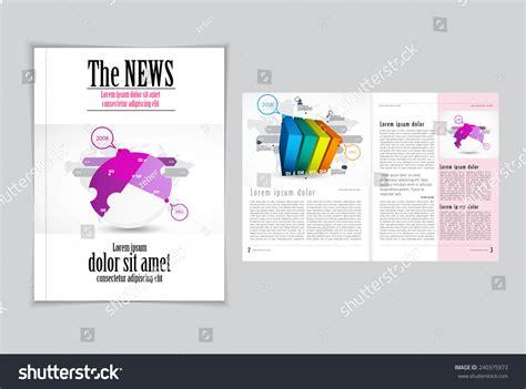 design magazine vector graphical design magazine template vector stock vector