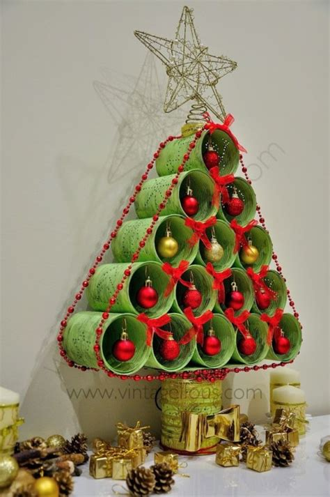 ideas de como hacer arbol navide241o con latas recicladas 45 193 rboles reciclados navide 241 os dise 241 os diferentes