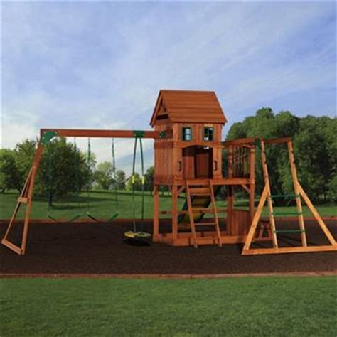 montpelier swing set backyard discovery montpelier all cedar swing set 2017