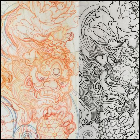foo dog tattoo design foo design turyanskiy