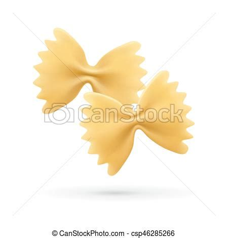 farfalle clipart farfalle pasta vector illustration icon of italian pasta