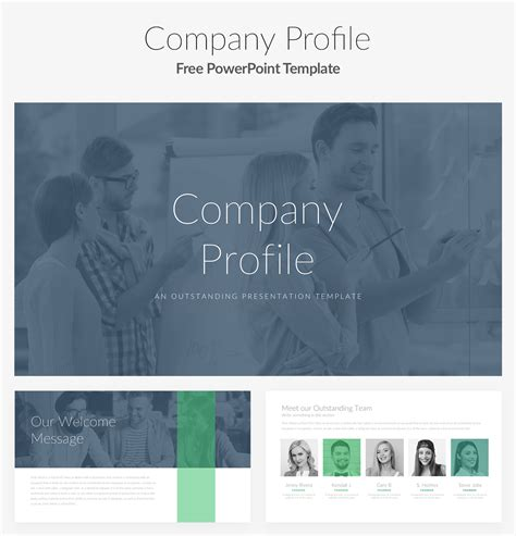 template powerpoint for company profile stron biz company profile powerpoint template free