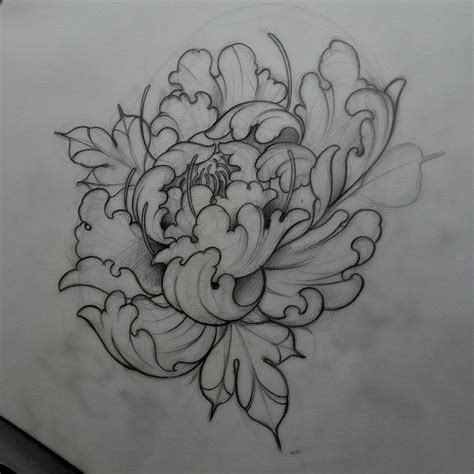 japanese peony tattoo designs neildransfieldtattoo early morning peony sketching neo